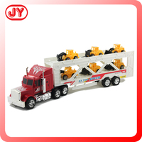 Safe material miniature plastic friction toy truck