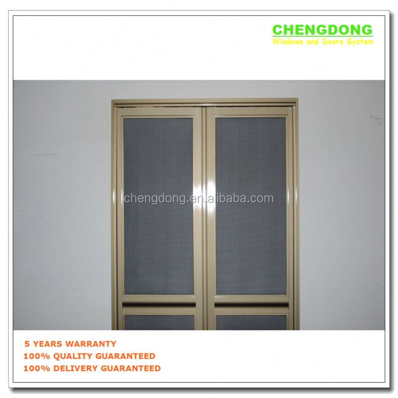 UPVC frame six panels economic folding doors price