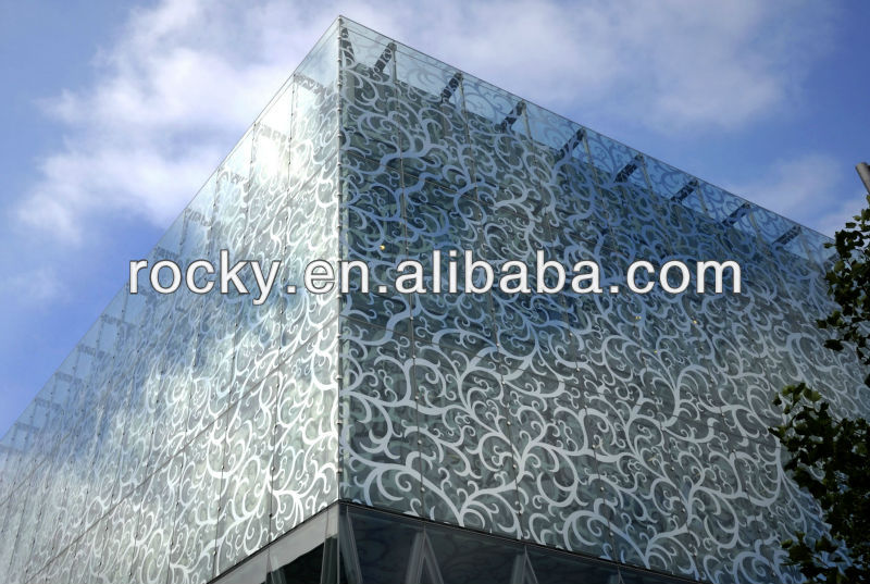 tempered ceramic frit Glass