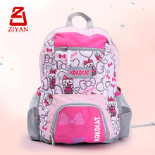 2013 Fashion cute cat picture school bag backpack for teenager girls
