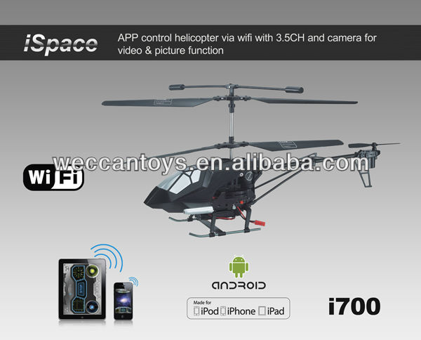 Amazing! 3CH rc helicopter with wifi camera