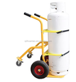 Hand Truck with Retractable Rear Assembly with 10-Inch Solid Rubber Wheels
