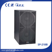 "SP-218B dual 18"" subwoofer speaker box 18 inch speaker subwoofer high quality dj equipment subwoofer"