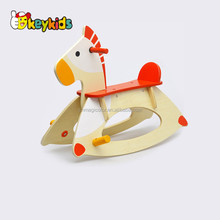 2017 wholesale baby wooden rocking horse,top fashion kids wooden rocking horse,cheap children wooden rocking horse W16D085