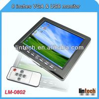 2014 new 8 inch touch screen roof mount car media player with 2 AV inputs