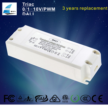 DALI dimmable led power supply 30W tridonic led driver ac 230v to dc 12V 24v adapter with NCC capacitor transformer