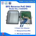 PACPON 8FE Ports EPON ONU Reverse PoE ONU with Waterproof Case for Outdoor Application