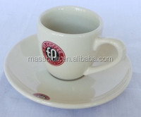 Various size china ware ceramic coffee cup and plate with customer design