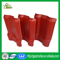 long lasting color small wave roof edge tiles synthetic tile roofing