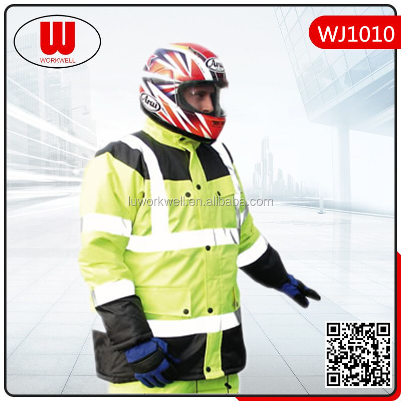 Motorcycle reflective safety winter warm suits