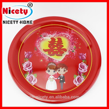 Chinese type retro festival tin serving tray for wedding