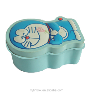 Doraemon Robot Cat Shape Multi Functional Case Tin Containers for Crafts Geocache Storage
