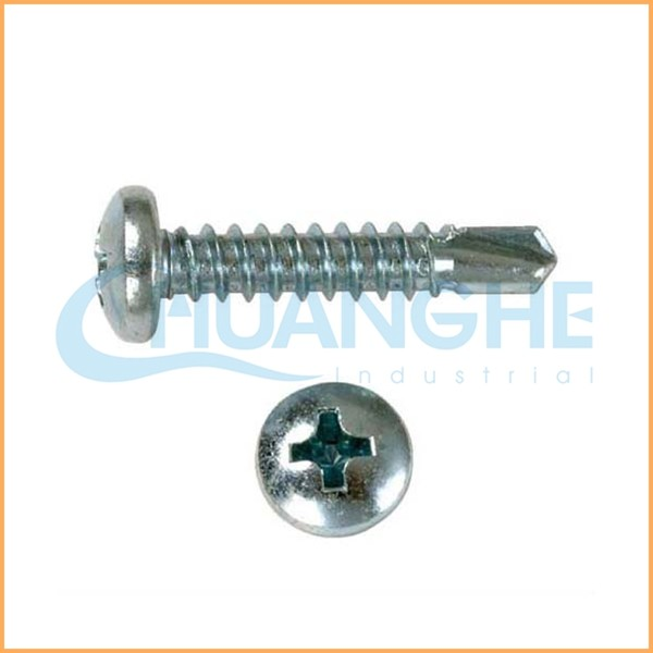 China factory supply thin brass hex cap head self drilling screw