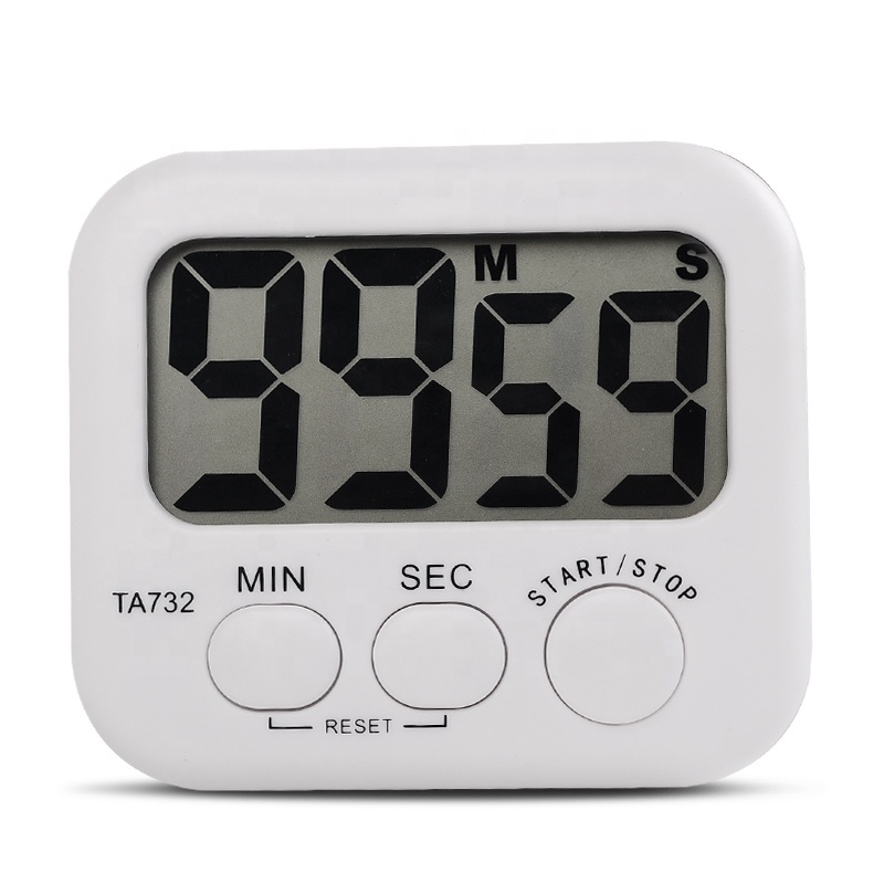 White Mini Electronic Large LCD Kitchen Digital <strong>Timer</strong> Hour Meter TA732