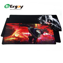 OEM Custom Full Color Logo Printed XL/ XXL Large Extended Computer Rubber Game Gaming Mousepad with Overlock Edge