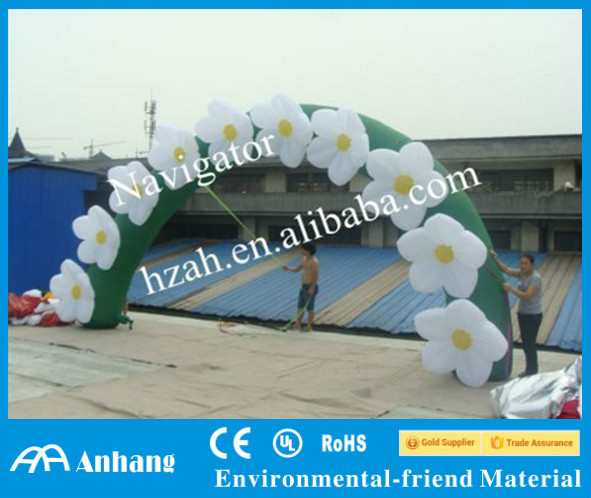 Outdoor Flower Inflatable Arch for Wedding Decoration