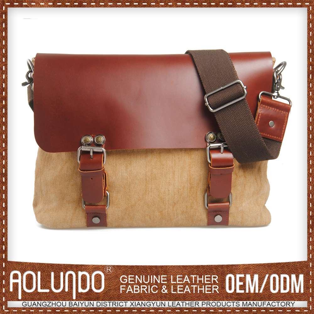 Low Price Simple Design Oem Production Canvas & Leather Kinds Of Different Brands Bags