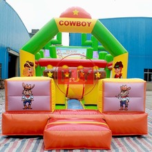 Hot trampoline cowboy inflatable castle/children amusement park inflatable trampoline/Inflatable Bouncer