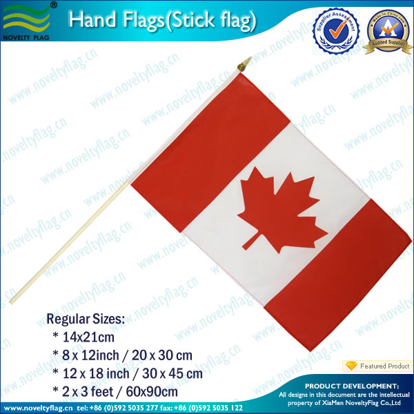 Candana hand held flag pole with plastic