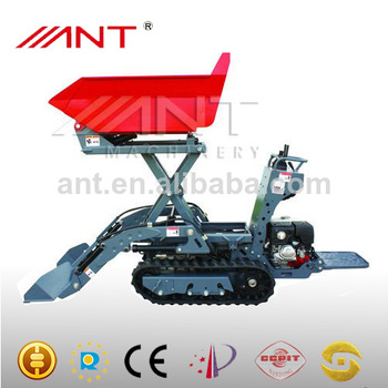 BY800 muck truck with CE electric wheelbarrow mini dump rubber mini tracked dumper