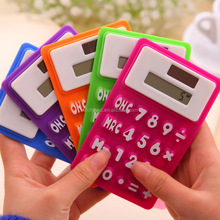 Mini Pocket Size Silicone Solar Powered Scientific Calculator