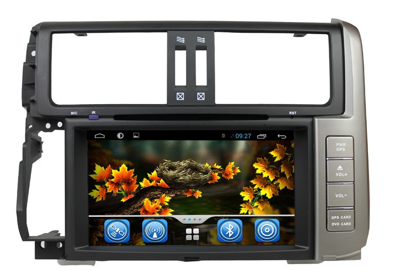 Wholesale Capacitive Screen 3G Wifi for Toyota Prado 2010 2011 2012 2013 pure Android 4.2.2 Car stereo with Gps navigation