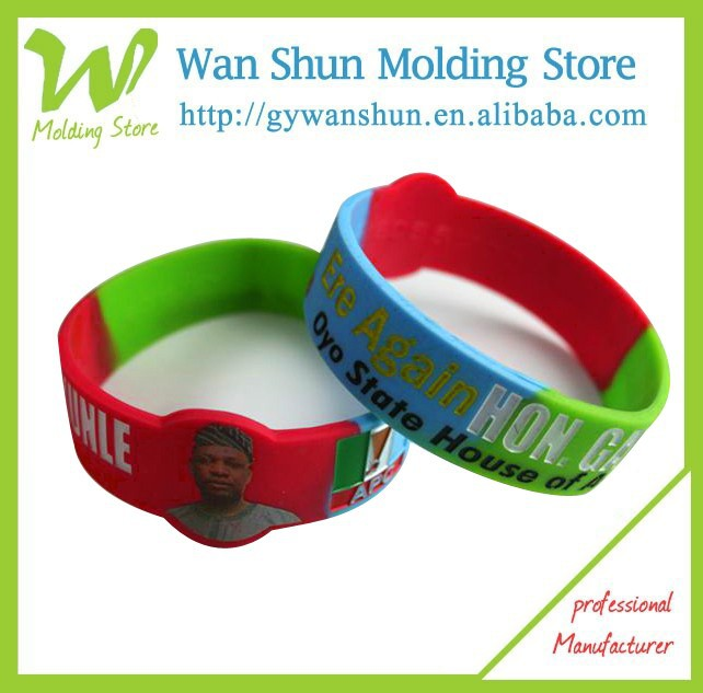 Silicone wristband watch with logo