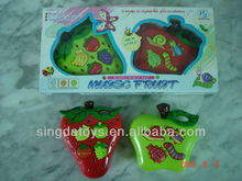 Strawberry and apple shape cartoon electronic organ toys