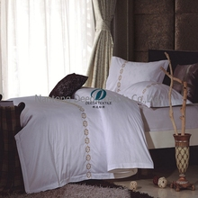 Deeda factory 100% cotton 60x60 173x120 330T hotel duvet cover/hotel bed sheet/hotel pillowcase