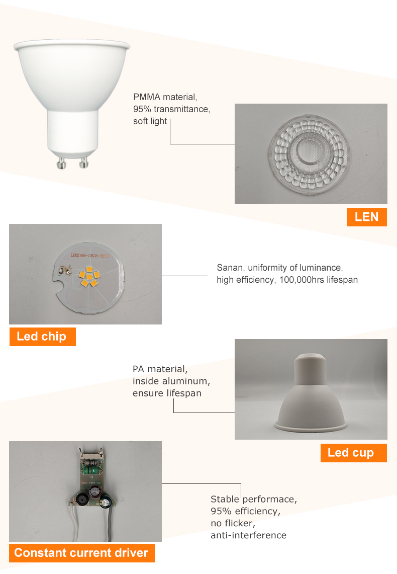 Hot Sale  SMD Spotlight 5w 7w led spot warm light white spot light