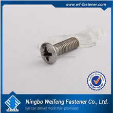 Fasteners supplier cross recessed steel machine screw