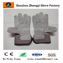 Cow split leather working safety glove for hand protection