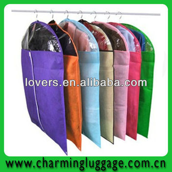 wholesale non woven garment bag/suit cover