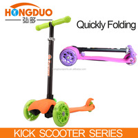 Quickly folding scooter for sale,120mm PU wheel scooter