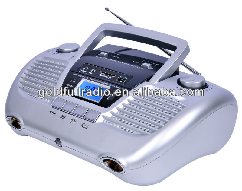 Dongguan Music Digital Boombox Portable USB/SD Multi Band Radio with lcd