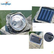 Garden Small Solar Rock Light with 4 LEDs