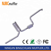 Excellent quality car muffler fit Ford Fiesta stainless steel exhaust pipe muffler assembly from manufacturer