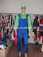 Adult drop ship carnival instylesChina Supplier New Mens Super Mario Luigi Brothers Bros Boys Fancy Dress Costume Halloween Cost