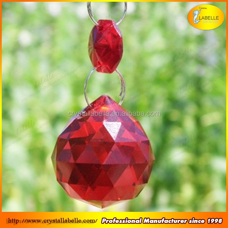 Octagon Hanging Icicle Pendant Crystal Prism Suncatcher