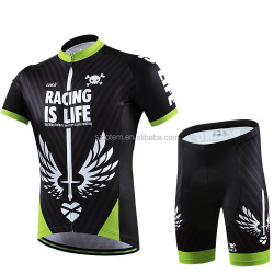 CHEJI Camouflage Mens Sports Cycling Jerseys & Bib Shorts Ropa Ciclismo Set MTB BIke Bicycle Clothing Suit