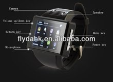 An1 2014 smart watch phone Quad Band Android 4.1.1 MTK6515 Dual Core WiFi GPS