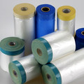 HDPE Auto Paint Pretaped Masking Film Painters Blue Plastic Rolls