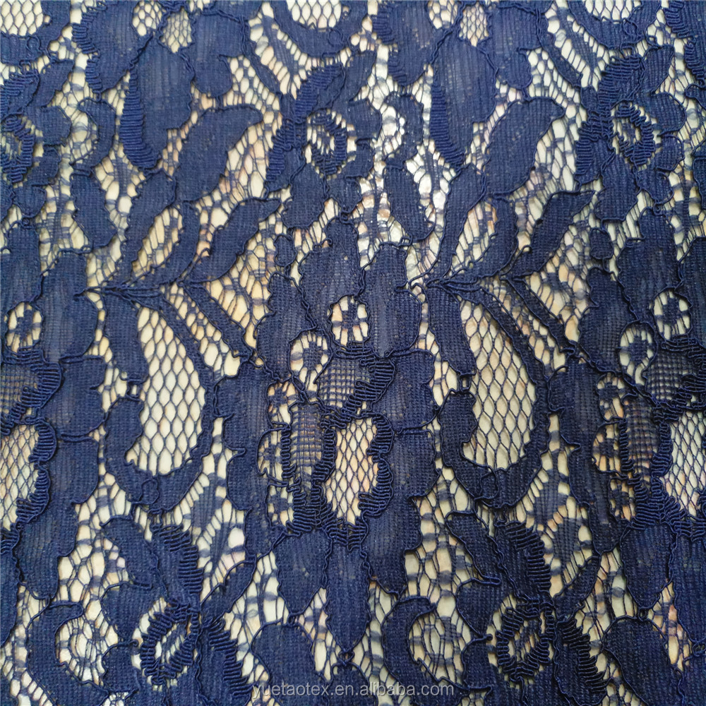 2016 french lace fabric wholesale dubai french lace nylon rayon lace fabric
