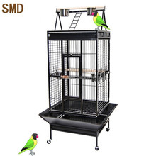 Pet Bird Cage Manufacturer Produce African Grey Playtop Cheap Strong Metal Big Large Macaw Parrot Cage