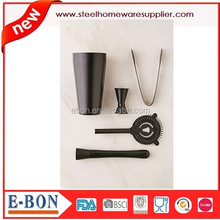 Superieure Monochromatische Bar Cocktail Shaker Set Zwart Bar Kit