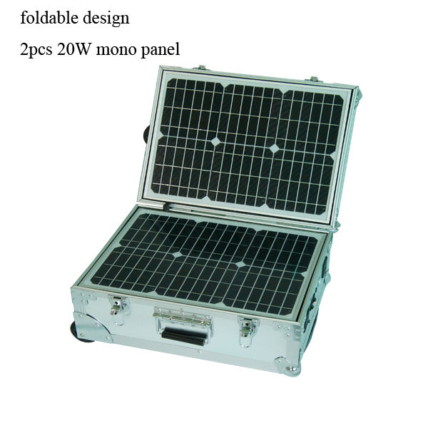 40W portable solar electric systems with AC and DC output