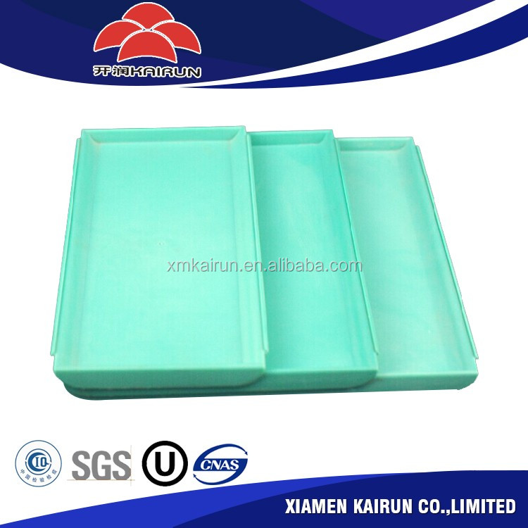 Wholesale new design stackable rectangular non slip plastic tray ,plastic food tray alibaba com