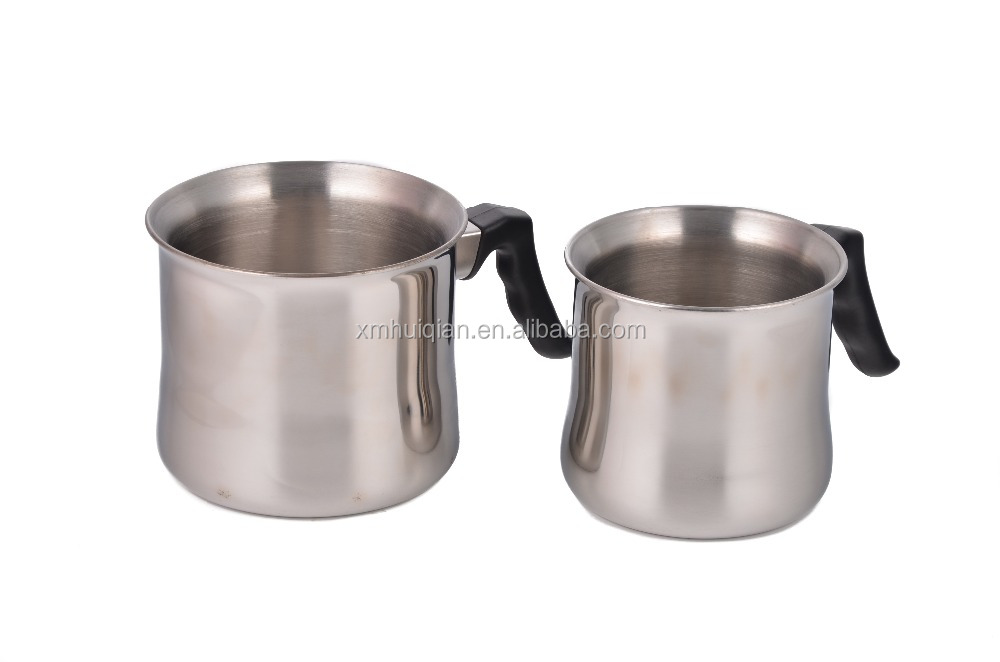 deep stainless steel milk boiling pot with handle