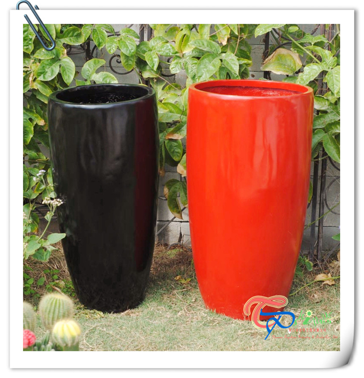 Wholesale Poly Resin Contemporary Round Flower Garden Pots