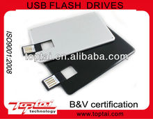promotional gift new model full color printing logo Mini long plastic credit card shape 8GB USB pen drive